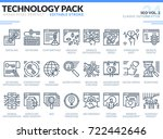 seo icons set. editable stroke. ... | Shutterstock .eps vector #722442646