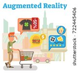 supply chain augmented reality | Shutterstock .eps vector #722445406