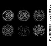 geometric pattern symbols... | Shutterstock .eps vector #722445532