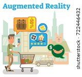 supply chain augmented reality | Shutterstock .eps vector #722446432