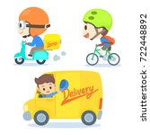 delivery business set | Shutterstock .eps vector #722448892