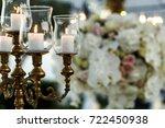 beautiful bronze candleholder... | Shutterstock . vector #722450938