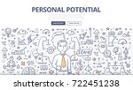 doodle vector illustration of... | Shutterstock .eps vector #722451238