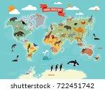illustration of wildlife... | Shutterstock .eps vector #722451742
