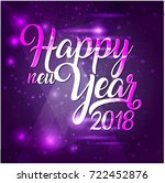 happy new year 2018 lettering... | Shutterstock . vector #722452876