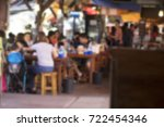 blurred restaurant at floating... | Shutterstock . vector #722454346