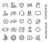 video games icon set. game... | Shutterstock .eps vector #722455576