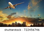 passenger plane departure... | Shutterstock . vector #722456746