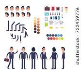 businessman character generator ... | Shutterstock . vector #722459776