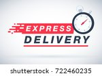 express delivery icon for apps... | Shutterstock .eps vector #722460235