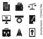 bureaucracy icons set. simple... | Shutterstock .eps vector #722461786