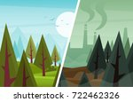 cartoon wood  clean and... | Shutterstock .eps vector #722462326