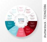 vector infographic template for ... | Shutterstock .eps vector #722462386