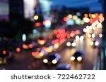 abstract bokeh car background | Shutterstock . vector #722462722