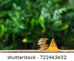 stop sign and coins are risky... | Shutterstock . vector #722463652
