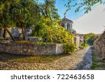 pathway to the church of st.... | Shutterstock . vector #722463658
