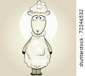 Funny Vector Sheep Cartoon...