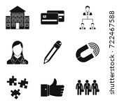 company manufacturer icons set. ... | Shutterstock .eps vector #722467588