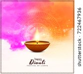 abstract happy diwali colorful... | Shutterstock .eps vector #722467936
