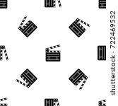 clapperboard pattern repeat... | Shutterstock .eps vector #722469532