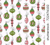 seamless vector pattern with... | Shutterstock .eps vector #722476102