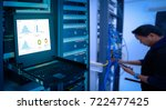 blur system administrator in a... | Shutterstock . vector #722477425