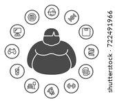 causes of obesity  obesity... | Shutterstock .eps vector #722491966