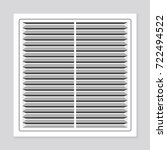 realistic plastic whiter air... | Shutterstock .eps vector #722494522