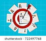 human resources management... | Shutterstock .eps vector #722497768