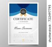 certificate premium template... | Shutterstock .eps vector #722497795