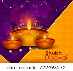 happy diwali light festival of... | Shutterstock .eps vector #722498572