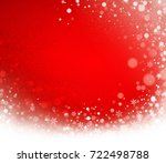 icy snow wave and snowflakes on ...   Shutterstock . vector #722498788