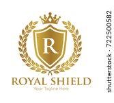 royal shield logo vector... | Shutterstock .eps vector #722500582