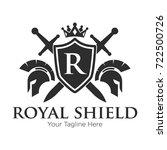 royal shield logo black logo   Shutterstock .eps vector #722500726