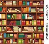 library book shelf seamless... | Shutterstock .eps vector #722503726