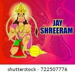 dussehra navratri festival of... | Shutterstock .eps vector #722507776