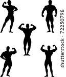 Bodybuilders Collection Vector