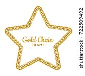 gold chain star border frame.... | Shutterstock .eps vector #722509492