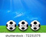 football or soccer ball on the... | Shutterstock . vector #72251575