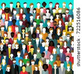 the crowd of abstract people.... | Shutterstock .eps vector #722516086