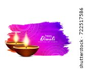 abstract colorful happy diwali... | Shutterstock .eps vector #722517586