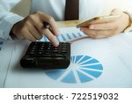 close up asian business woman... | Shutterstock . vector #722519032