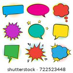 set of empty retro colorful... | Shutterstock .eps vector #722523448
