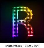 vector alphabet. disco letter r | Shutterstock .eps vector #72252454