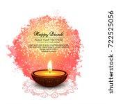 modern elegant diwali design | Shutterstock .eps vector #722525056