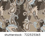 Textile Paisley Pattern In...