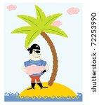 little pirate vector | Shutterstock .eps vector #72253990