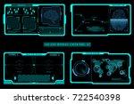 hud futuristic elements screen... | Shutterstock .eps vector #722540398