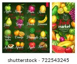 fruits price or menu template... | Shutterstock .eps vector #722543245
