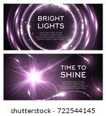 light flash or lightning shine... | Shutterstock .eps vector #722544145